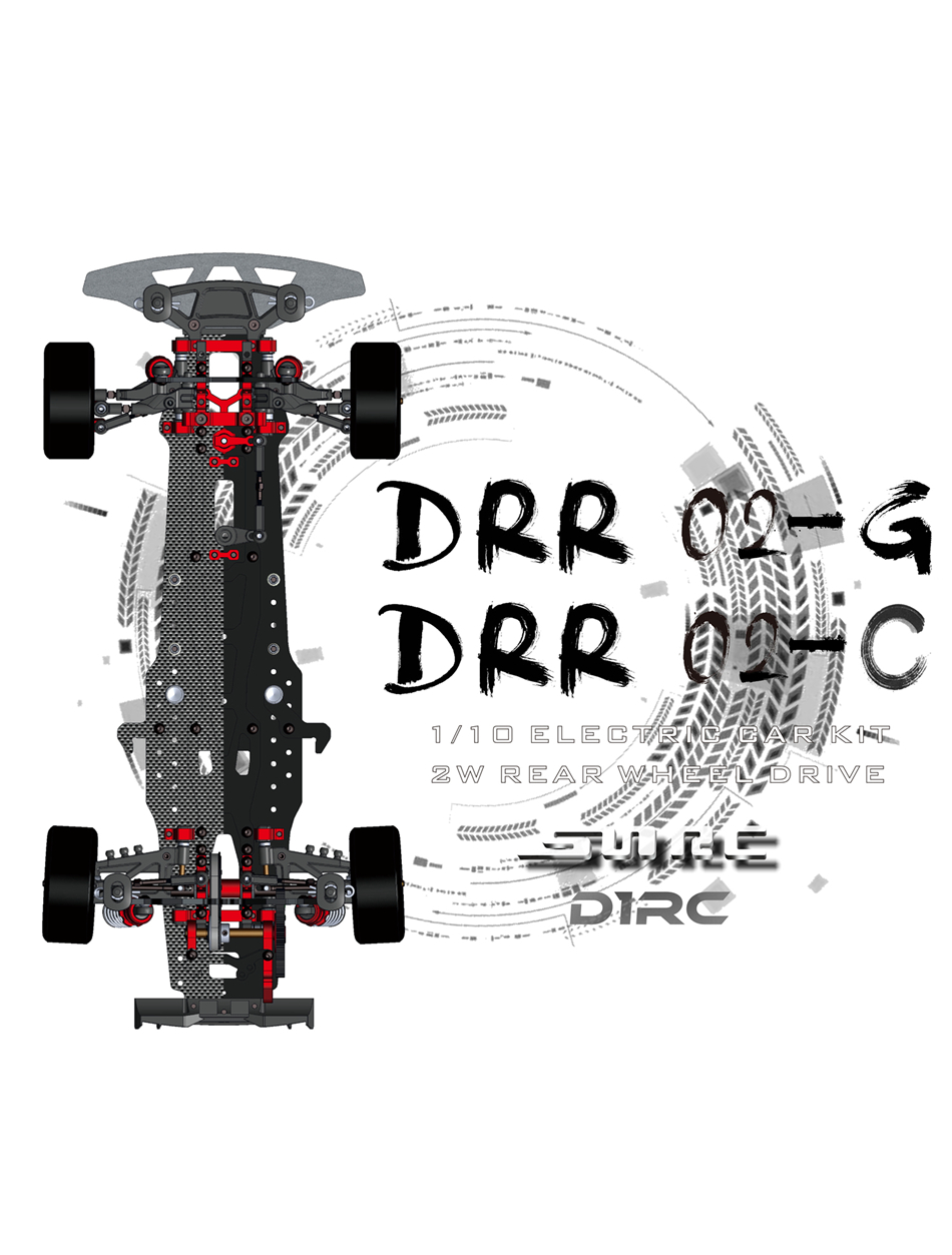 SNRC  DRR02-G 1/10 2WD GLASS FIBER LARGE ANGLE STEERING POSTPOSITION POST DRIVE DRIFT VEHICLE