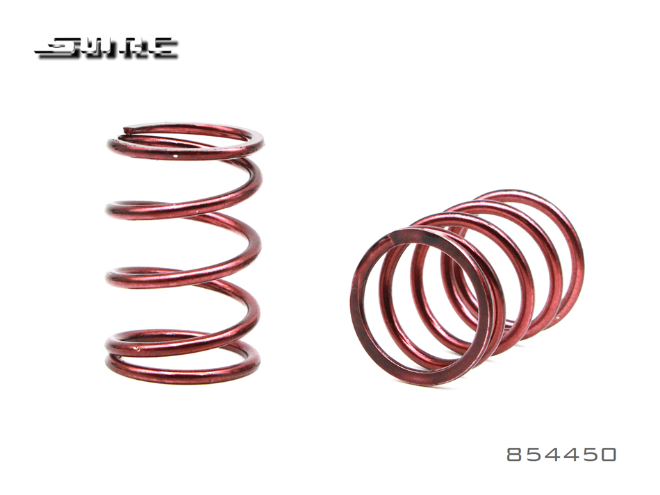 SNRC 854450 1:8 RCAccessories  SHOCK ABSORBER SPRING OKAY 2.4X5.0X40 INNER HOLE 21 RED
