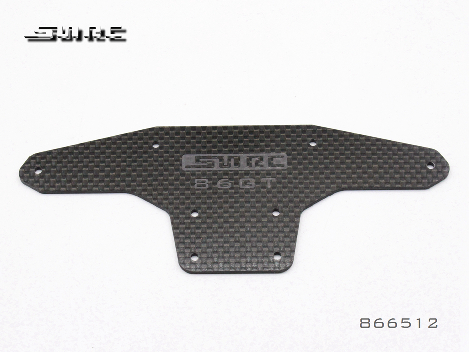 SNRC 866512 1:8 RCAccessories  86 FRONT BUMPER SHEETING - CARBON FIBER